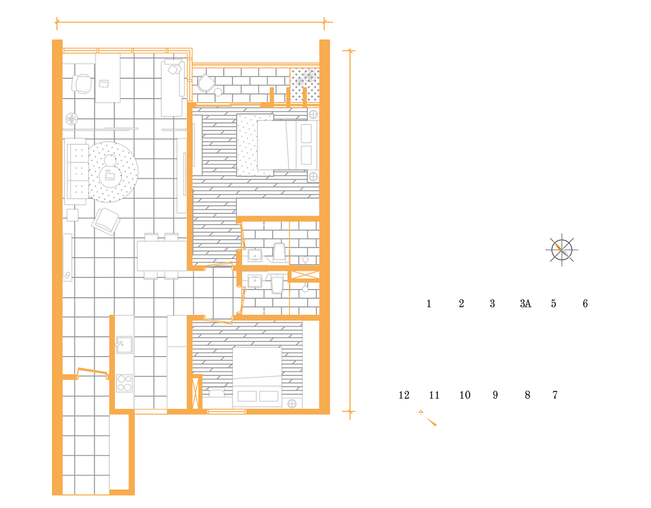 Suite B floor plan